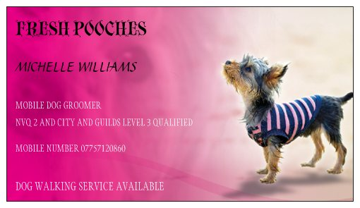 Home my aim is to give you peace of mind ensuring your pet has a fun and safe environment whether you choose my dog grooming or walking service colourmoves